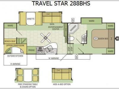 Floorplan - 2016 Starcraft Travel Star 288BHS