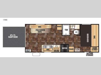 Floorplan - 2016 Forest River RV Cherokee Grey Wolf 19RR