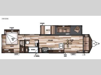 Floorplan - 2016 Forest River RV Wildwood DLX 39FDEN