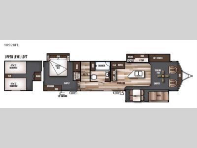 Floorplan - 2016 Forest River RV Wildwood Lodge 4092BFL