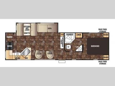Floorplan - 2016 Forest River RV Cherokee 274RK