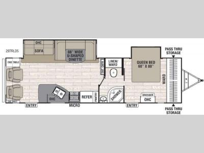 Floorplan - 2016 Coachmen RV Freedom Express Liberty Edition 297RLDS