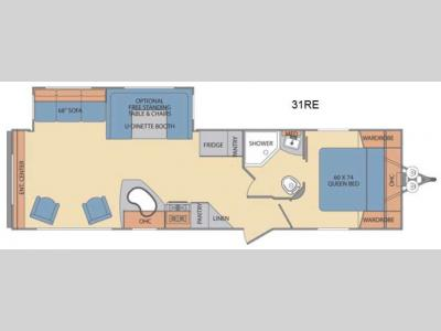Floorplan - 2016 Shasta RVs Revere 31RE
