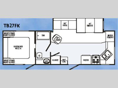 Floorplan - 2007 R-Vision Trail Bay TB27FK