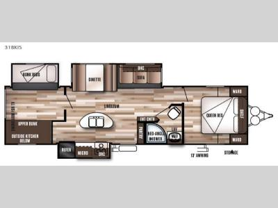 Floorplan - 2016 Forest River RV Wildwood 31BKIS