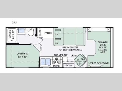 Floorplan - 2016 Thor Motor Coach Four Winds 23U