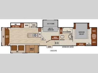 Floorplan - 2016 Coachmen RV Chaparral 390QSMB