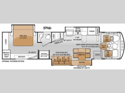 Floorplan - 2016 Thor Motor Coach Challenger 37ND