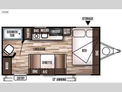 Floorplan - 2016 Forest River RV Wildwood X Lite FS 185RB