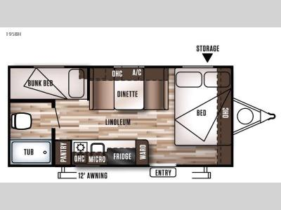 Floorplan - 2016 Forest River RV Wildwood X Lite FS 195BH