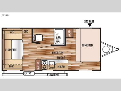 Floorplan - 2016 Forest River RV Wildwood X Lite FS 205RD