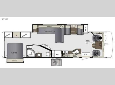 Floorplan - 2016 Forest River RV Georgetown 335DS