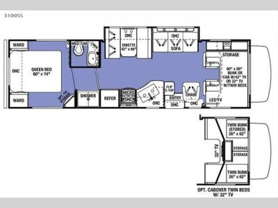 Floorplan - 2016 Forest River RV Sunseeker 3100SS Ford