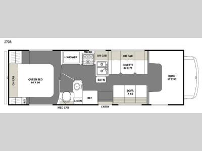 Floorplan - 2016 Coachmen RV Freelander 27QB Chevy 4500