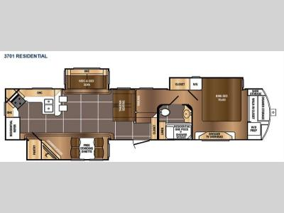 Floorplan - 2016 Prime Time RV Sanibel 3701