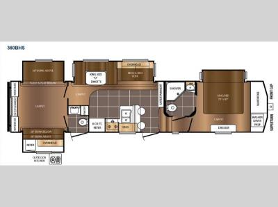 Floorplan - 2016 Prime Time RV Crusader 360BHS