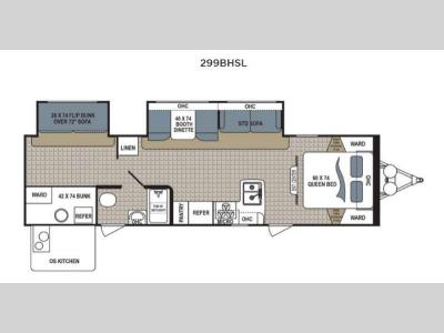 Floorplan - 2015 Dutchmen RV Kodiak Express 299BHSL Express