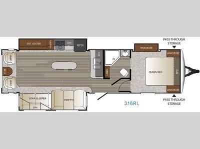 Floorplan - 2016 Keystone RV Outback 316RL