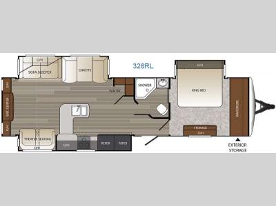 Floorplan - 2016 Keystone RV Outback 326RL