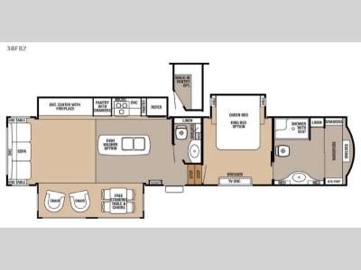 Floorplan - 2016 Forest River RV Cedar Creek 38FB2