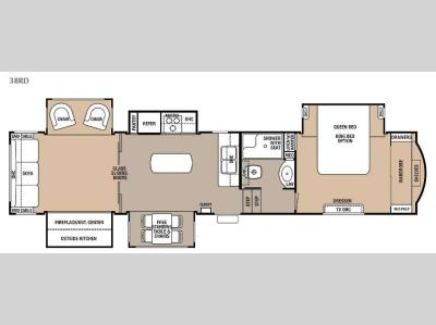 Floorplan - 2016 Forest River RV Cedar Creek 38RD