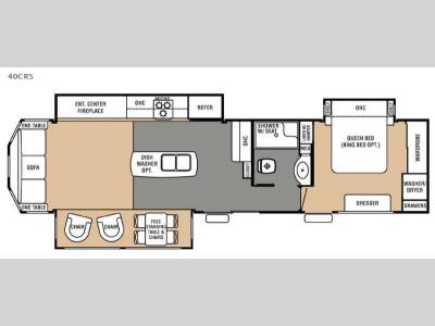 Floorplan - 2016 Forest River RV Cedar Creek Cottage 40CRS