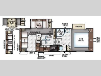 Floorplan - 2016 Forest River RV Flagstaff Classic Super Lite 8524RLWS