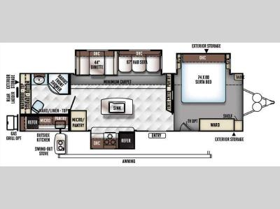 Floorplan - 2016 Forest River RV Flagstaff Classic Super Lite 829IKRBS