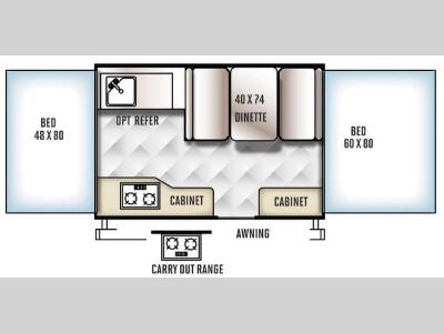 Floorplan - 2016 Forest River RV Flagstaff MACLTD Series 206LTD