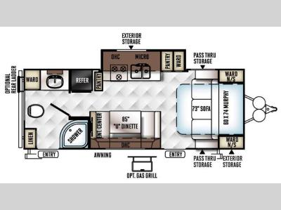 Floorplan - 2016 Forest River RV Flagstaff Micro Lite 25KS