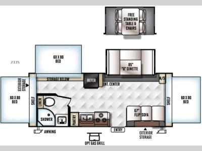 Floorplan - 2016 Forest River RV Flagstaff Shamrock 233S