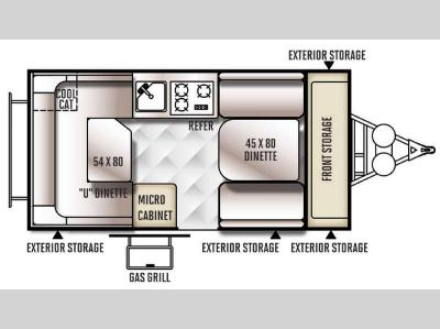 Floorplan - 2016 Forest River RV Rockwood Hard Side Series A128S