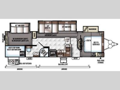 Floorplan - 2016 Forest River RV Rockwood Signature Ultra Lite 8311WS
