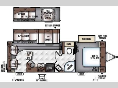 Floorplan - 2016 Forest River RV Rockwood Ultra Lite 2604WS