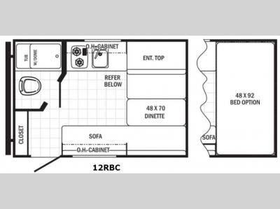 Floorplan - 2016 Palomino Canyon Cat 12RBC