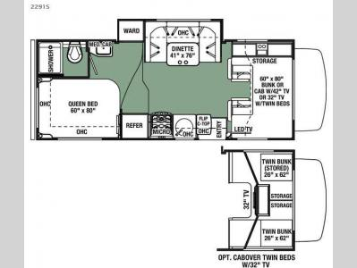 Floorplan - 2016 Forest River RV Forester 2291S Ford