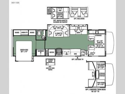 Floorplan - 2016 Forest River RV Forester 3011DS Ford