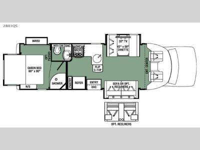 Floorplan - 2016 Forest River RV Forester Grand Touring Series 2801QS Ford