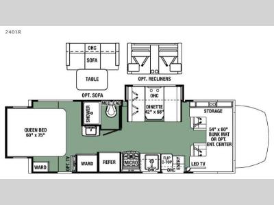 Floorplan - 2016 Forest River RV Forester MBS 2401R