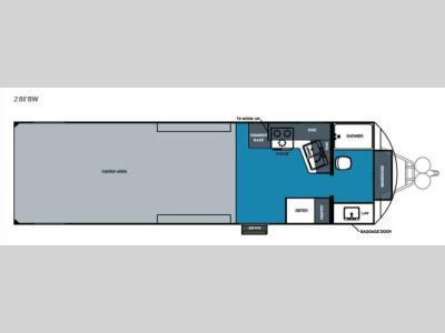 Floorplan - 2016 Forest River RV Work and Play 28FBW
