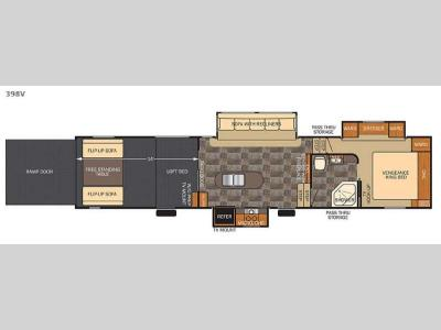 Floorplan - 2016 Forest River RV Vengeance 398V