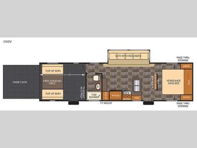Floorplan - 2016 Forest River RV Vengeance 300V