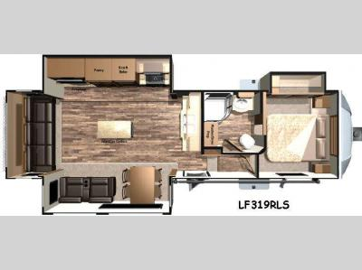 Floorplan - 2016 Open Range RV Light LF319RLS