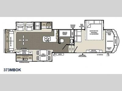 Floorplan - 2016 Forest River RV Sierra 373MBOK