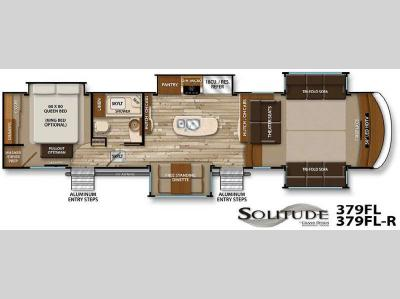 Floorplan - 2016 Grand Design Solitude 379FL