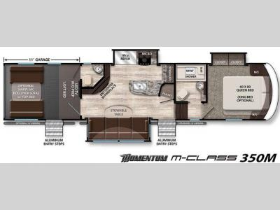 Floorplan - 2016 Grand Design Momentum M-Class 350M