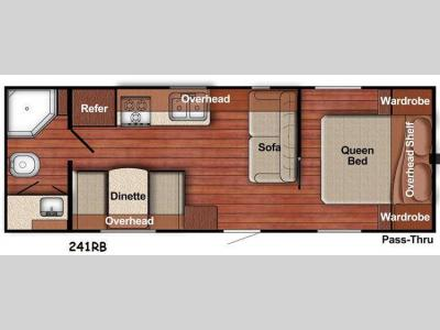 Floorplan - 2015 Gulf Stream RV Kingsport 241RB