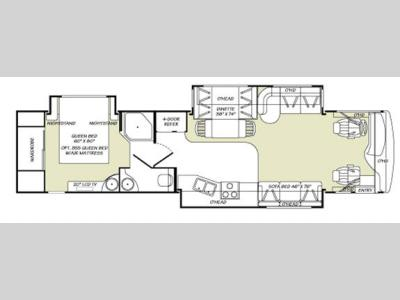Floorplan - 2007 Fleetwood RV Discovery 39S