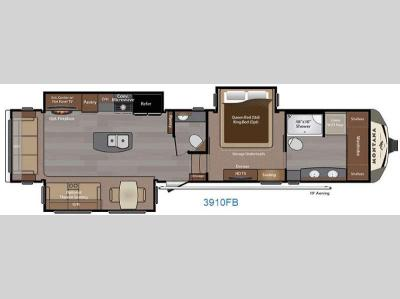 Floorplan - 2016 Keystone RV Montana 3910 FB