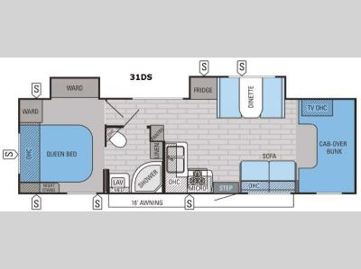 Floorplan - 2016 Jayco Greyhawk 31DS